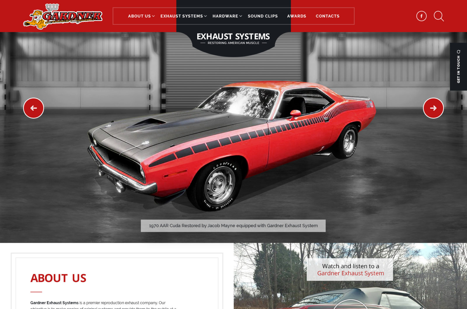 Web Design for Muscle Car Exhaust