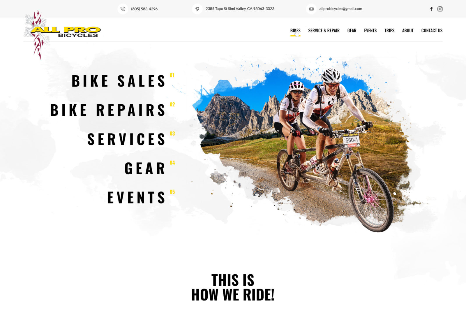 Bike Shop Web Design